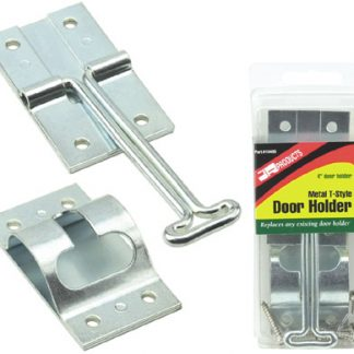 "4"" Zinc Plated Metal T-Style Door Holder"