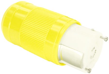 50A 125/250V 4-wire locking Connector