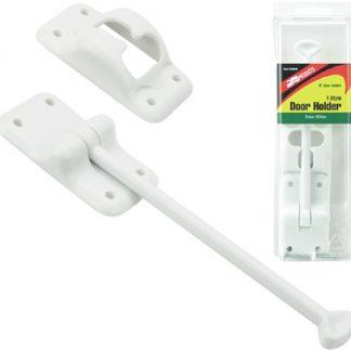 """6"""" Polar White Nylon T-Style RV Door Holder"""
