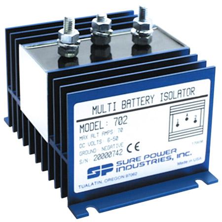 70 Amp, 1 Input, 2 Battery Isolator