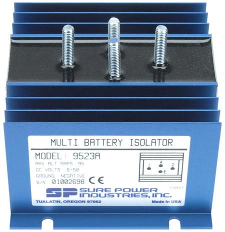 95 Amp, 1 Input, 2 Battery Isolator - DELCO SERIES