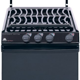 """Black Top 17"""" Atwood Range with Black Glass Door and Piezo Ignition"""