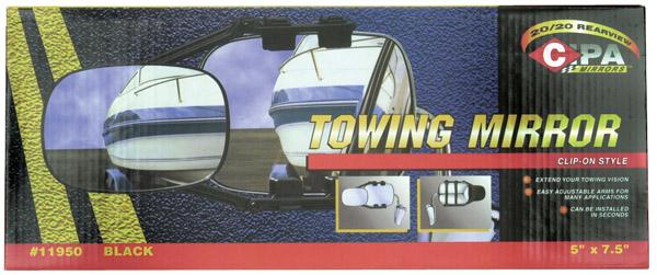 Clip-On RV Towing Mirror