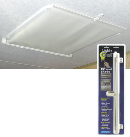 Cream Lights Out Indoor RV Vent Shade