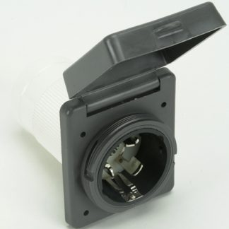 Gray 30A 125V RV Power Inlet