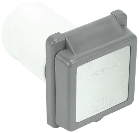Gray 50Amp 4 Wire RV/Marine Power Inlet