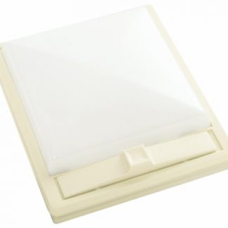 Ivory with White Lens Single Square 12 Volt RV Dome Light