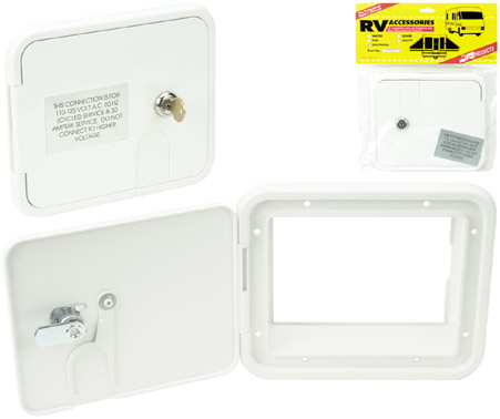 Polar White Medium Electric Cable Hatch