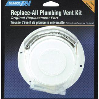 "Polar White Replace 2"" RV Plumbing Vent Kit"