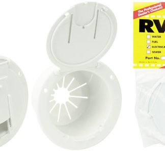 Polar White Round Electric Cable Hatch With Back