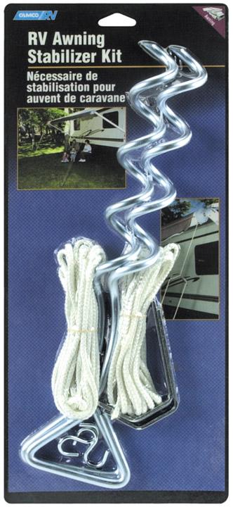 Camco Spiral Stake Rv Awning Stabilizer Kit 42563
