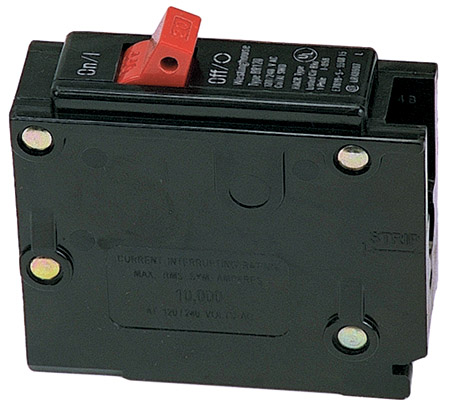 Single 15 amp single control (toggle) RV AC breaker