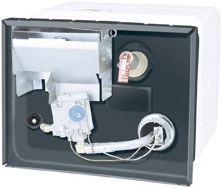 White 10 Gallon LP Gas Pilot Ignition Water Heater
