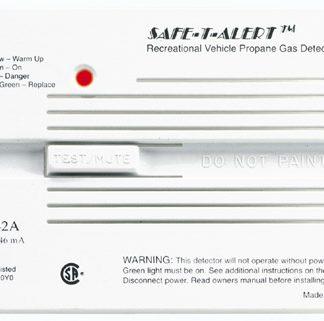 White Flush Mount LP Gas/Propane Alarms