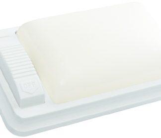 White with White Lens Single 12 Volt RV/Marine Dome Light