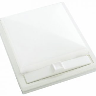 White with White Lens Single Square Dome Light
