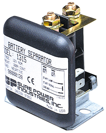 12 V with Auxilliary Start Battery Separators Sure Power Model 1315A