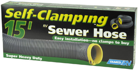 15' Self Clamping RV Sewer Hose