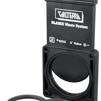 "3"" Black Bladex™ RV Waste Valve Body with Plastic Handle"