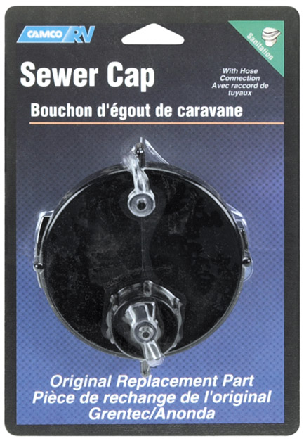"""3"""" RV Sewer Cap With Garden Hose Connection"""